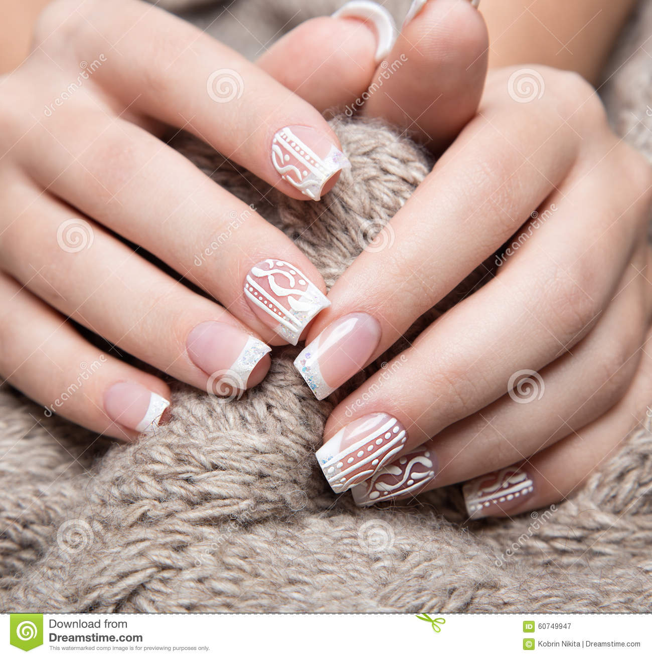 Female Manicure And Gel Hybrid Titanium Nails Preparation ...