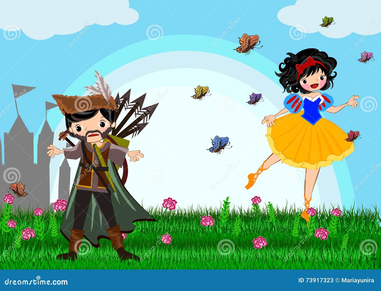Snow white stock illustration  Illustration of princess - 73917323