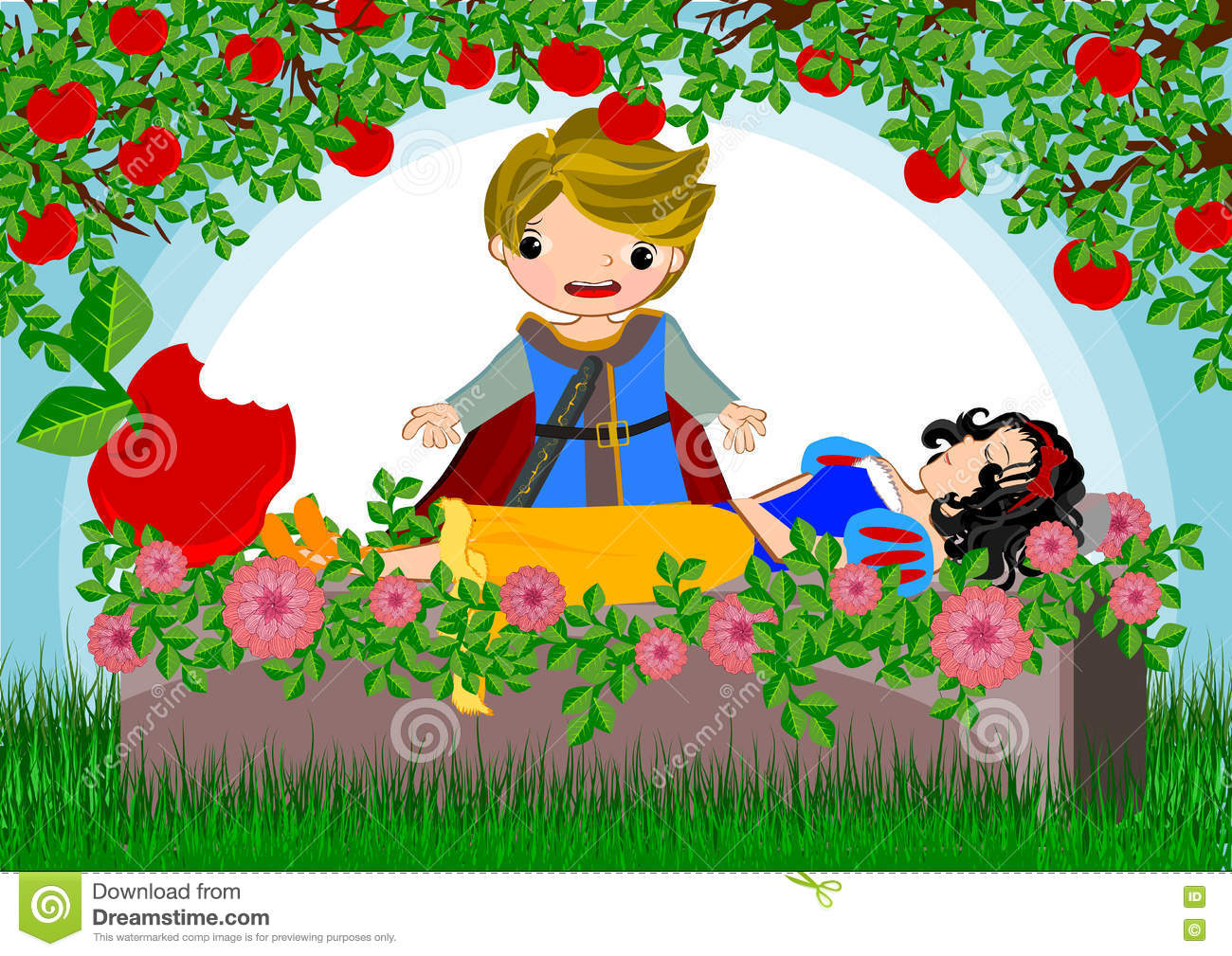 Snow white stock illustration  Illustration of palace - 73925825