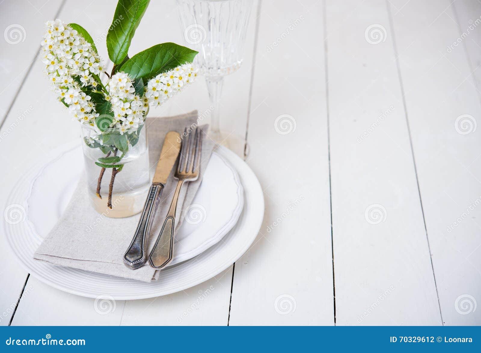 Snow White Wedding Table Decor Stock Photo Image Of Interior