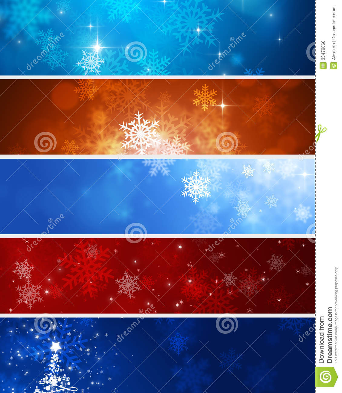 Snow Winter Banners Royalty Free Stock Image - Image: 35479666