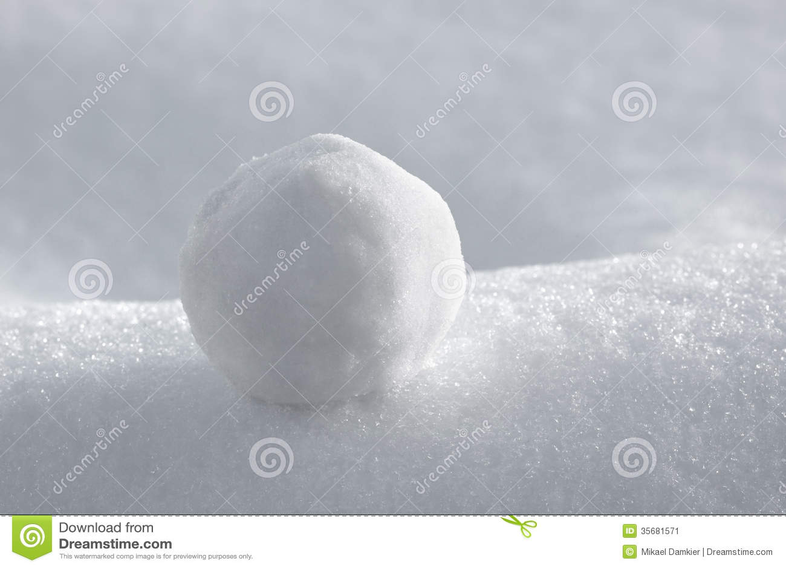 Snowball Stock Image Image 35681571
