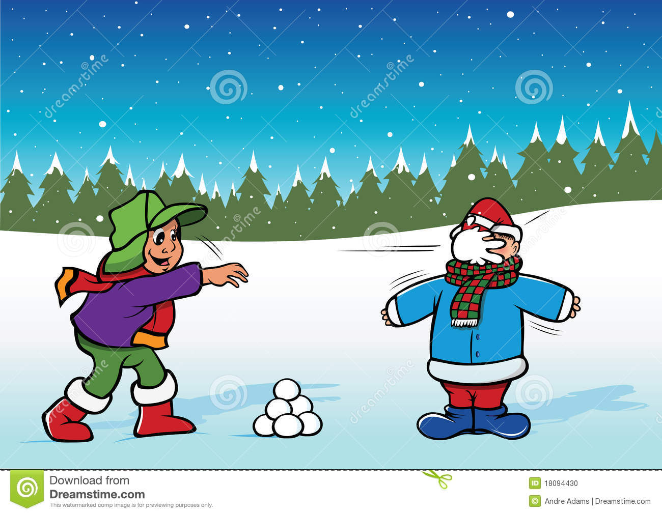 Snowball Fight Stock Photo - Image: 18094430