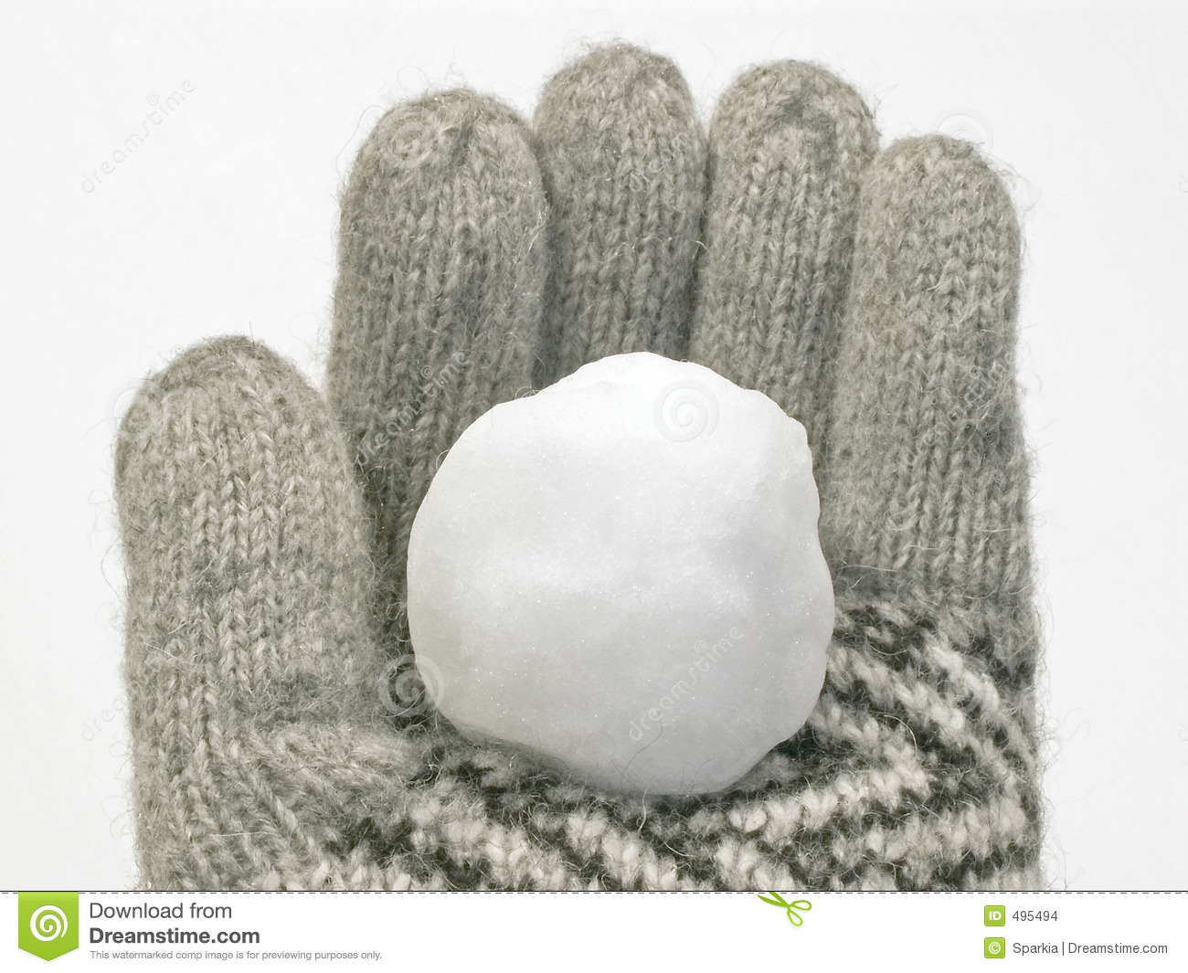 Snowball In Winter Glove Stock Images - Image: 495494