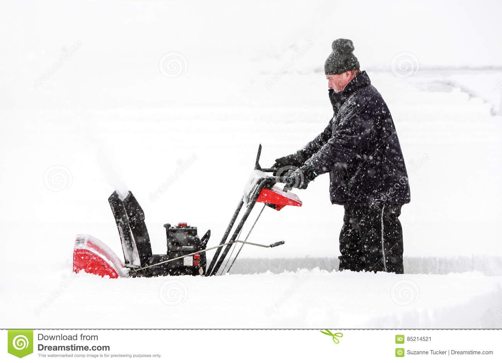 Snowblower ατόμων χρησιμοποίηση