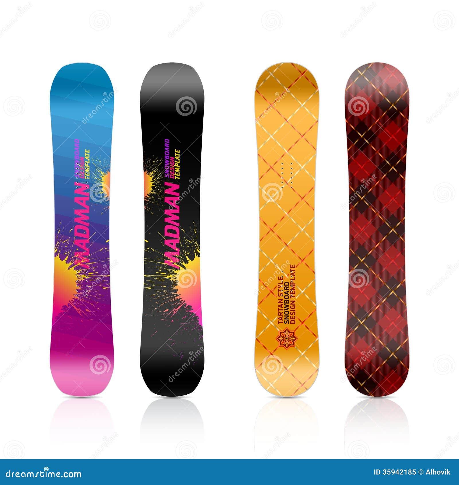Snowboard Design Stock Vector Illustration Of Rider 35942185