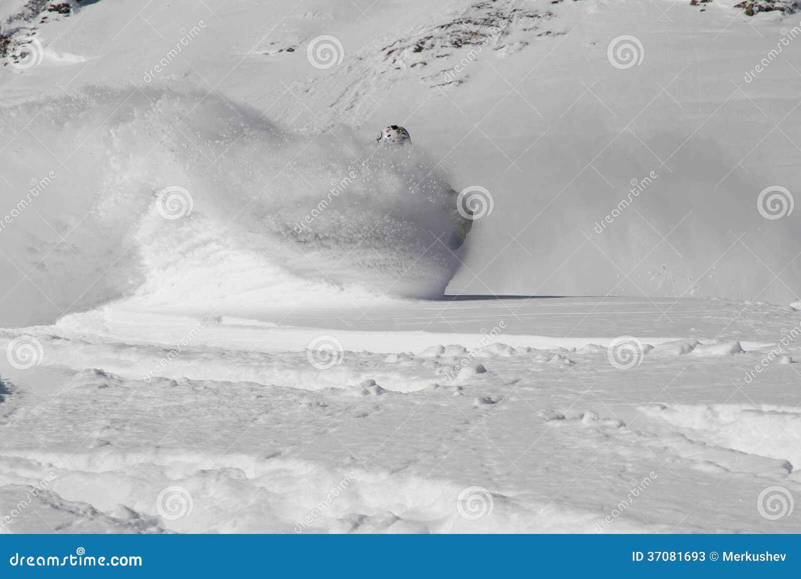 Download Snowboard freerider obraz stock. Obraz złożonej z proszek - 37081693