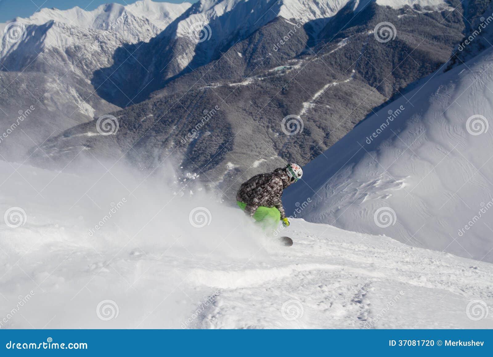 Download Snowboard freerider zdjęcie stock. Obraz złożonej z alps - 37081720