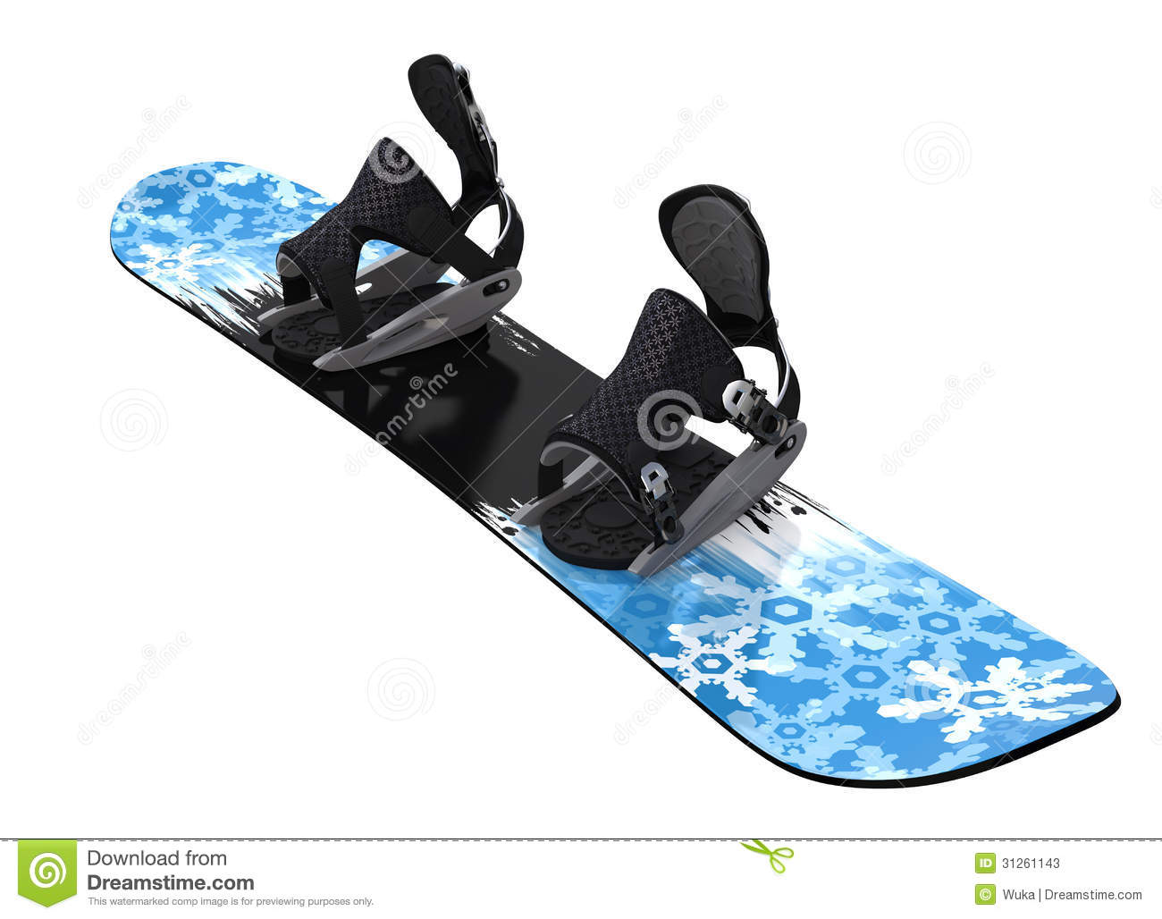 Snowboard isolated on white