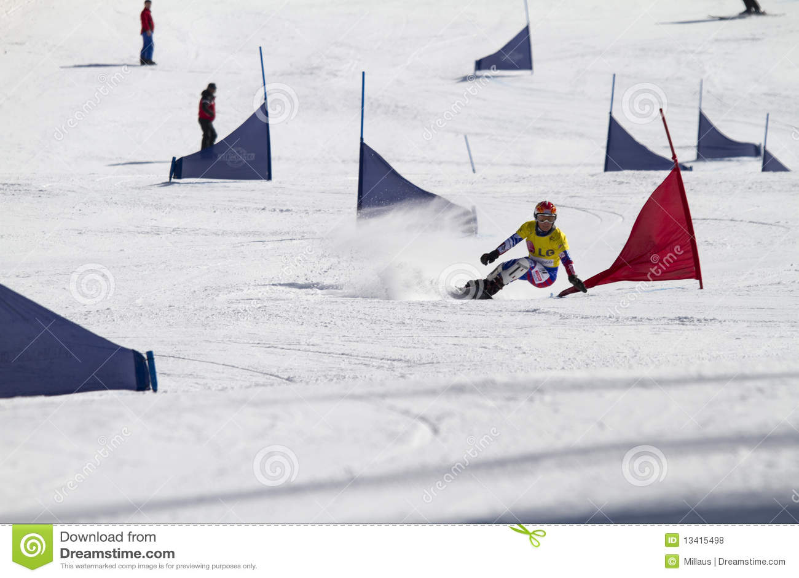 Parallel slalom snowboarding