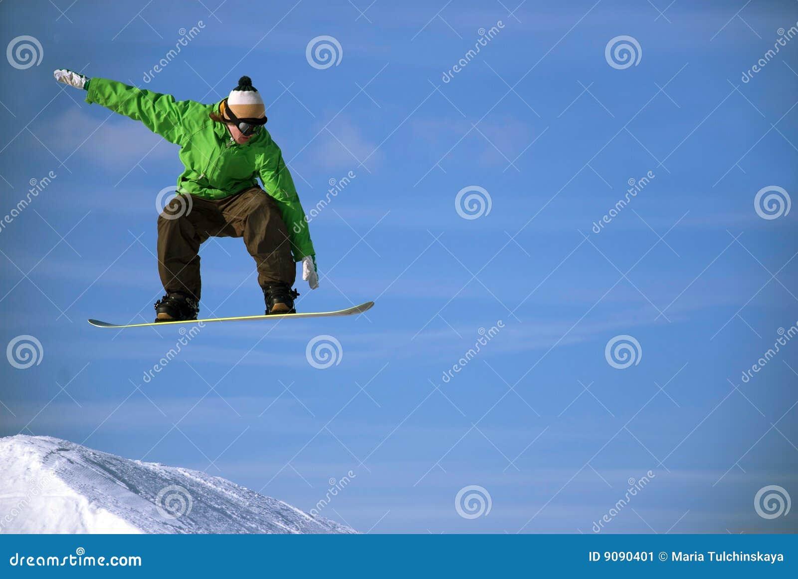 Snowboarder in der Luft