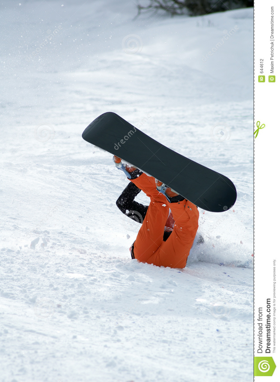 Snowboarder Fall Stock Photography - Image: 644612