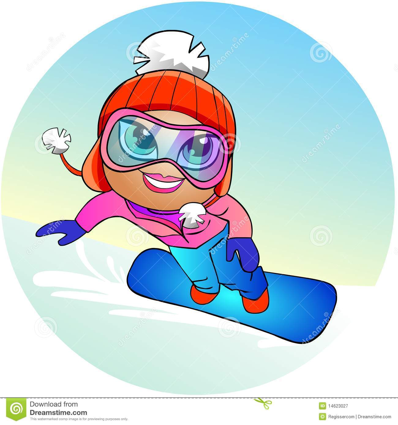 Snowboarder Girl Royalty Free Stock Photography - Image: 14623027 Happy Child Clipart