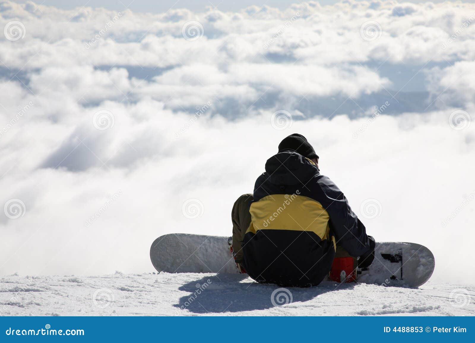 Snowboarder op helling stock afbeelding afbeelding bestaande uit