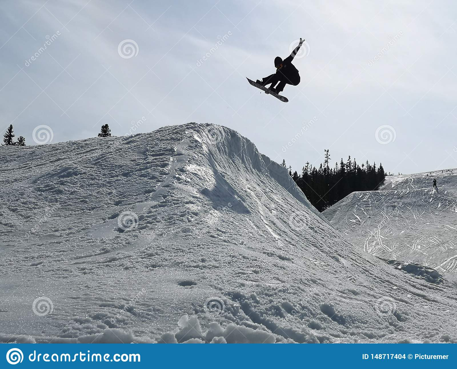 Snowboarder op hoek