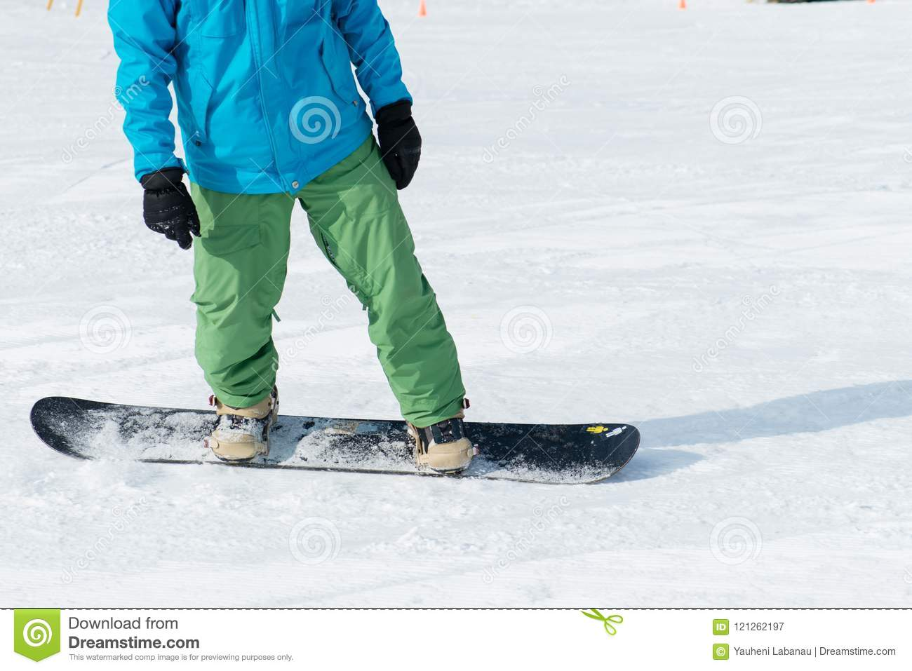 Snowboarder Riding On Snow Stock Image Image Of Snowboard