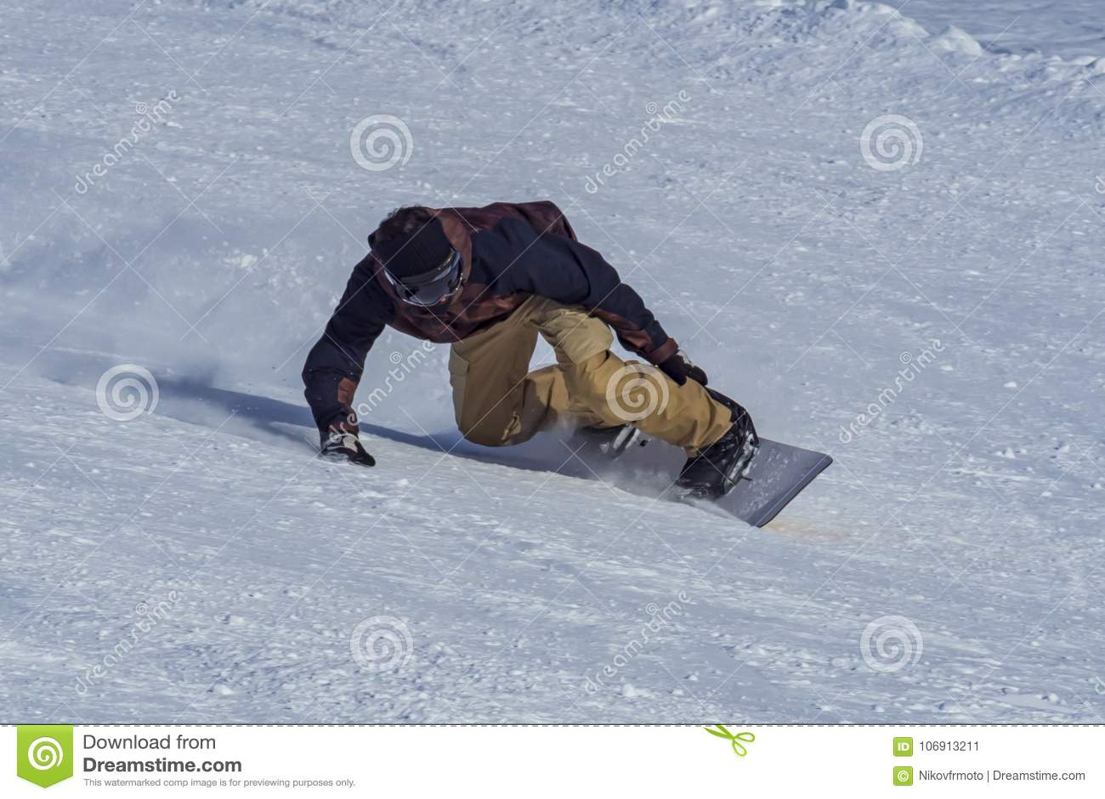 Snowboarder zamknięty - up