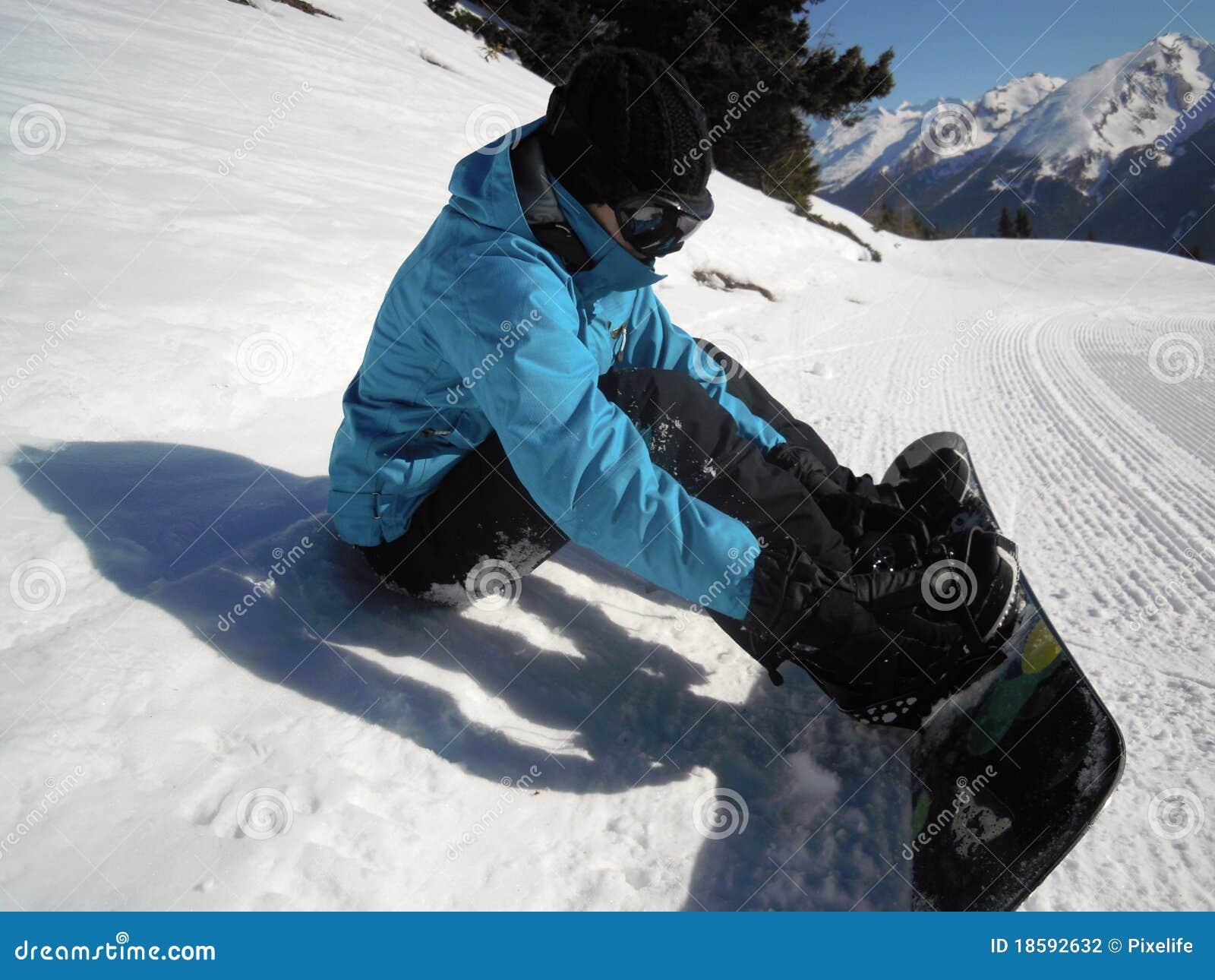 Snowboarding da menina