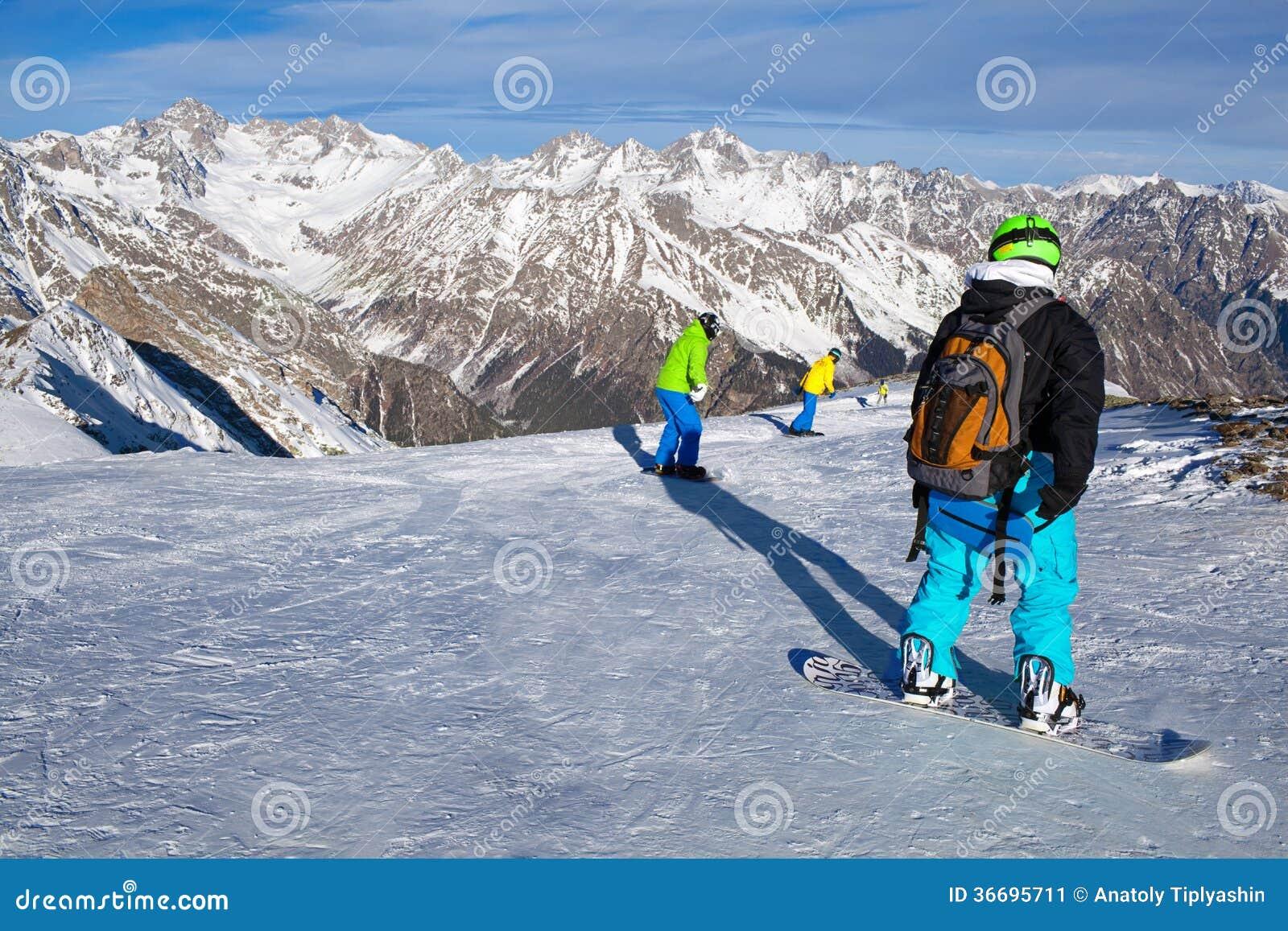 Snowboarding för vintersport