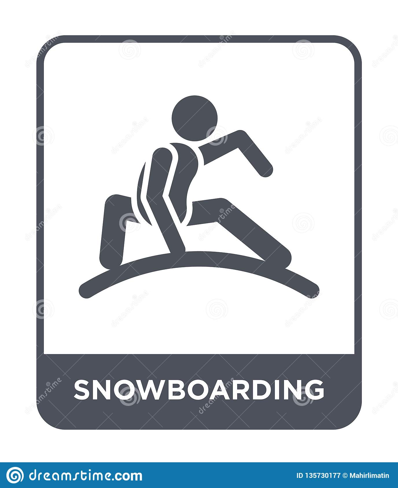 snowboarding icon in trendy design style. snowboarding icon isolated on white background. snowboarding vector icon simple and