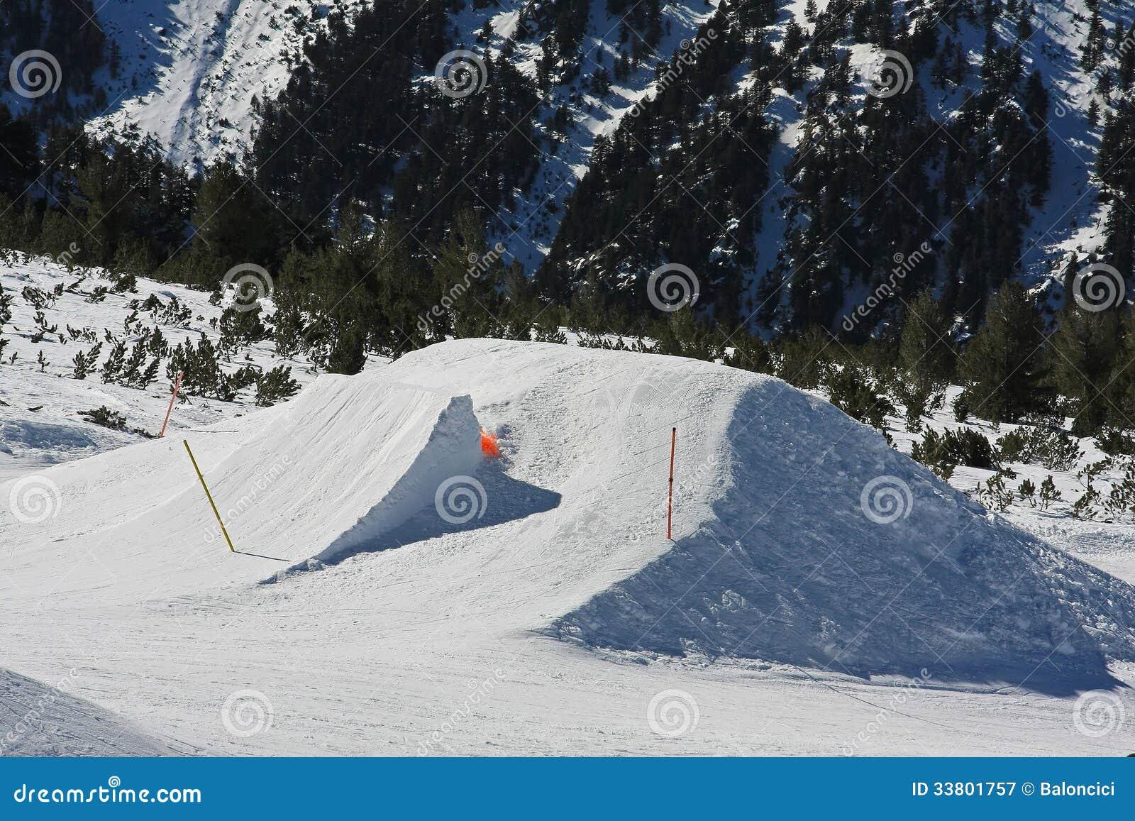 Backyard Snowboard Ramp snowboarding jump ramp stock image. image of drop, ramps - 33801757