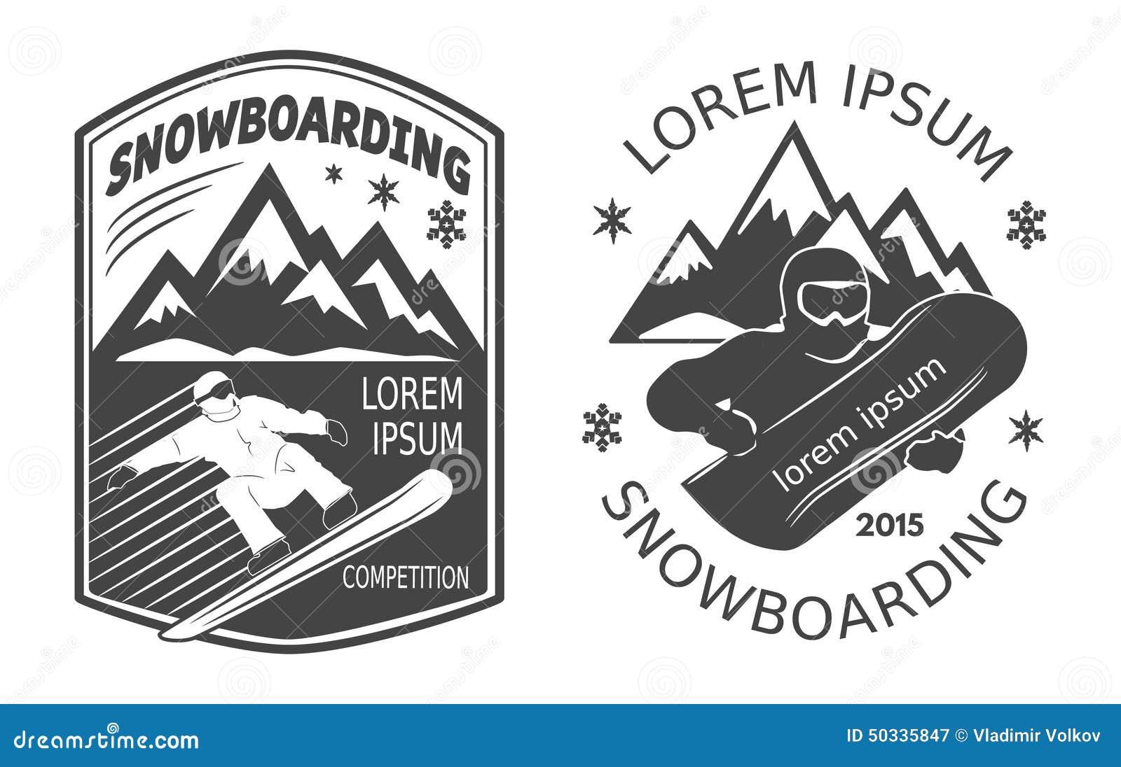 Snowboardingaufkleber