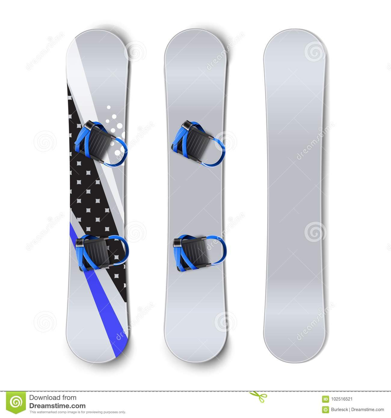snowboards with bindings stock vector illustration of competition