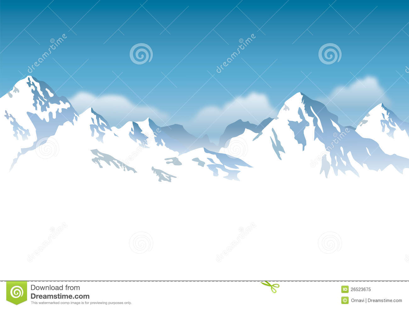 Snowcapped Mountains - Background Royalty Free Stock Photo - Image ...