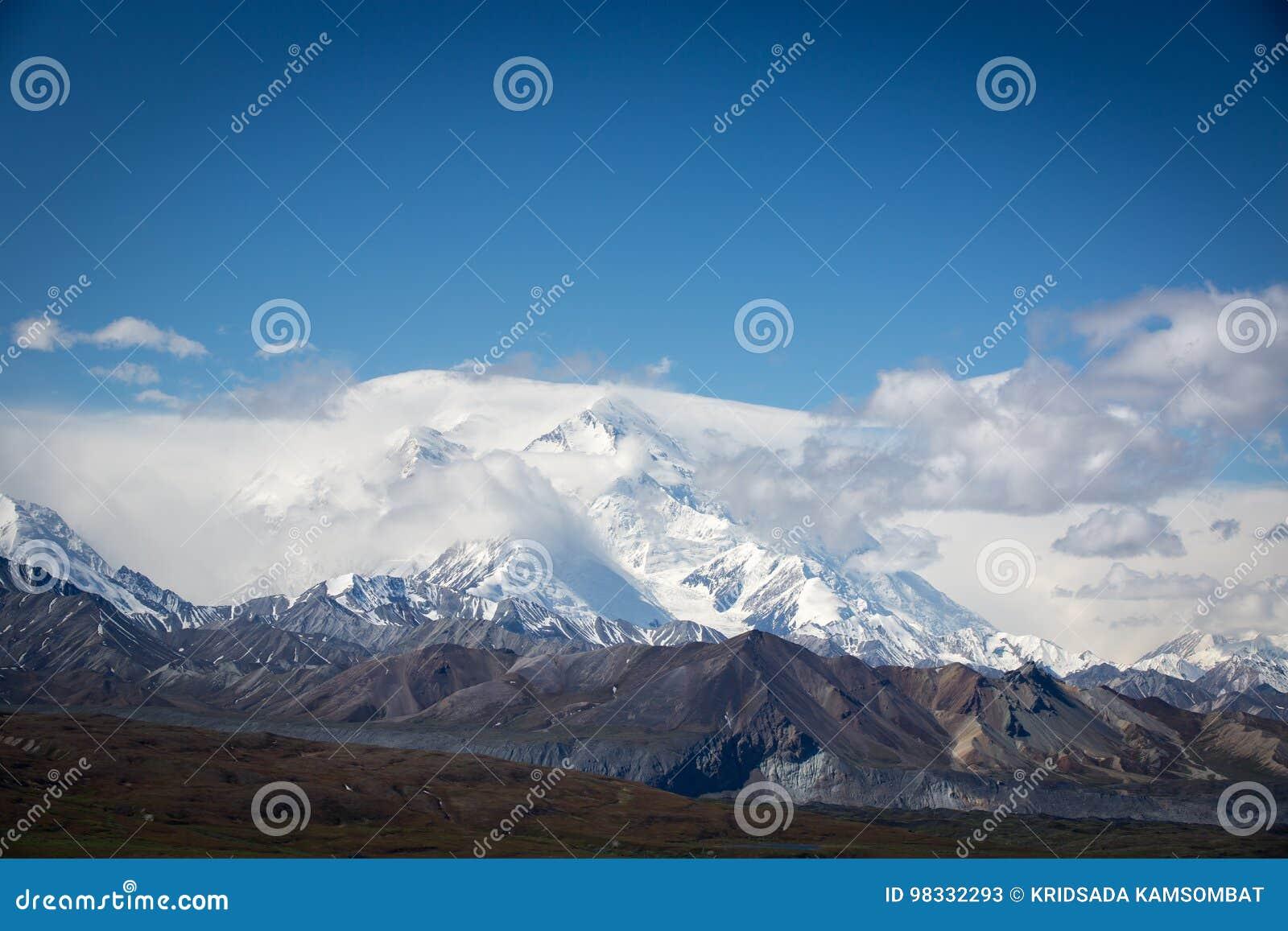 Snowcapped Mt McKinley