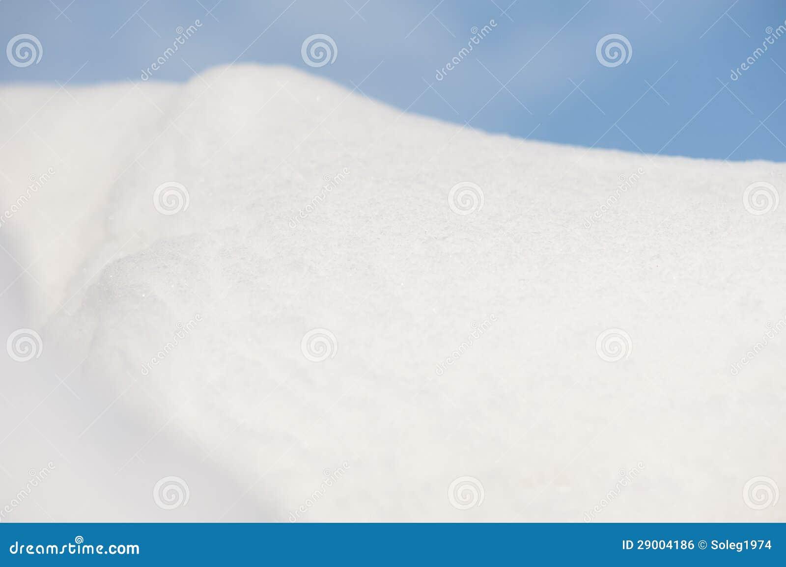 Snowdrift no fundo do céu