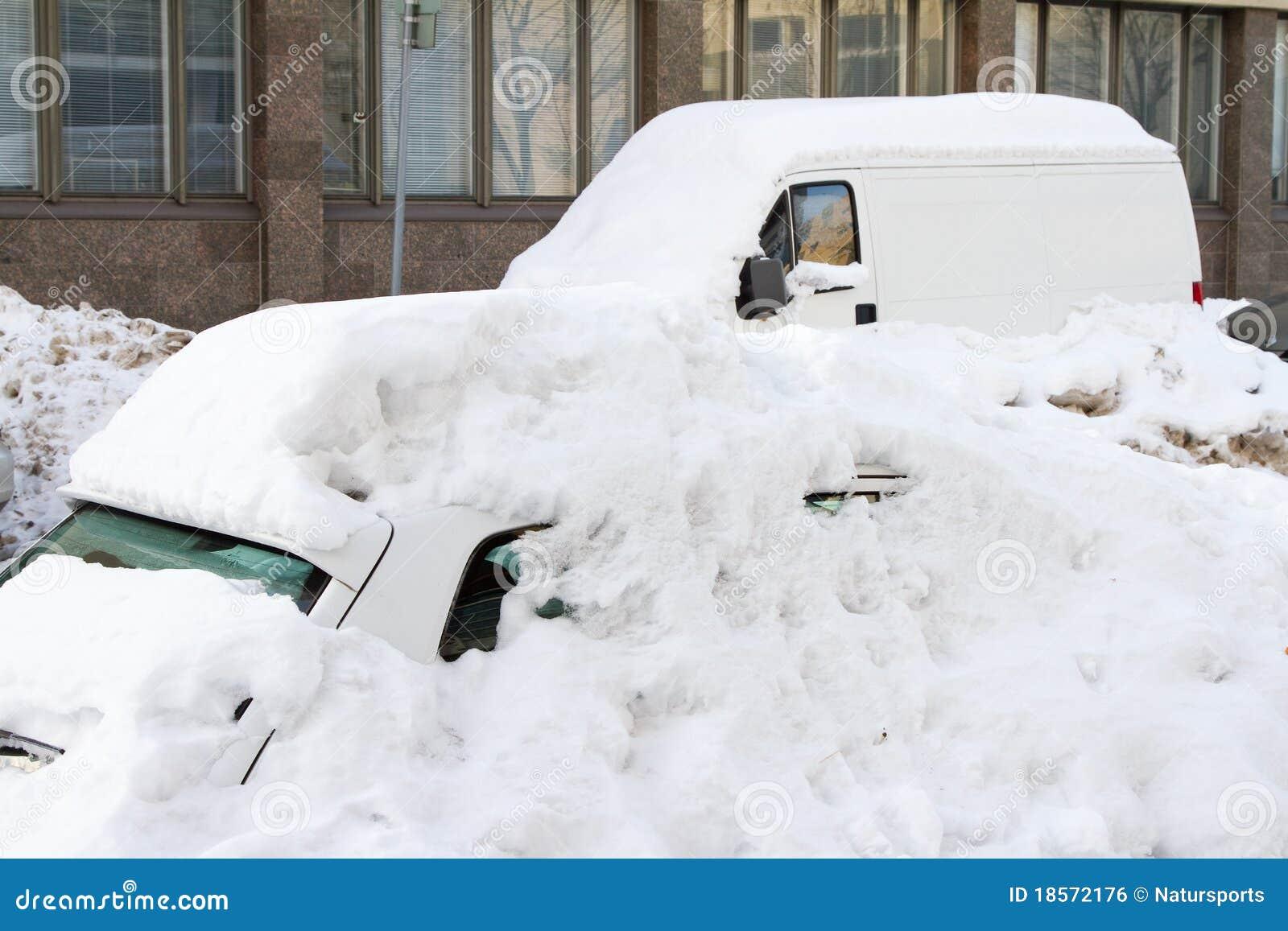 Snowfall in Helsinki (Finland)