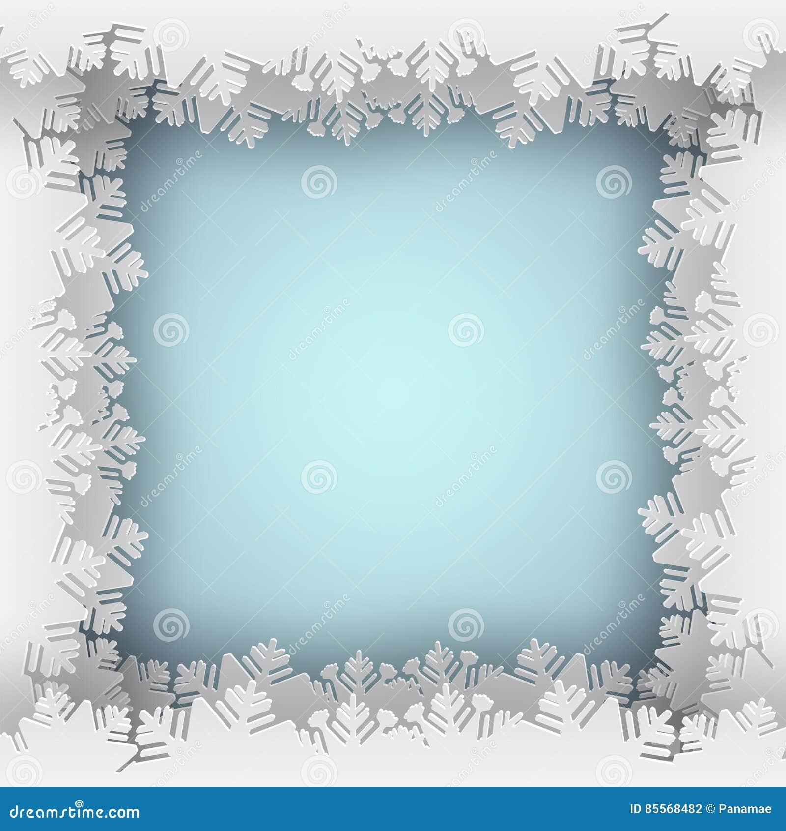 Snowflake blue frame