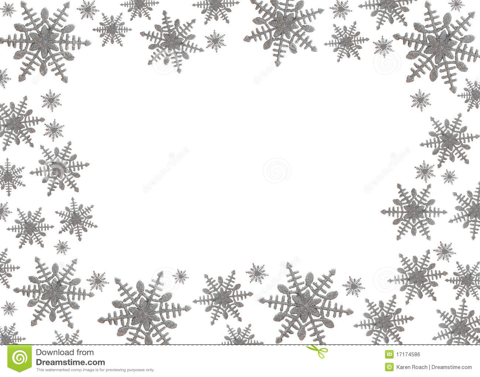 Free winter snowflake border
