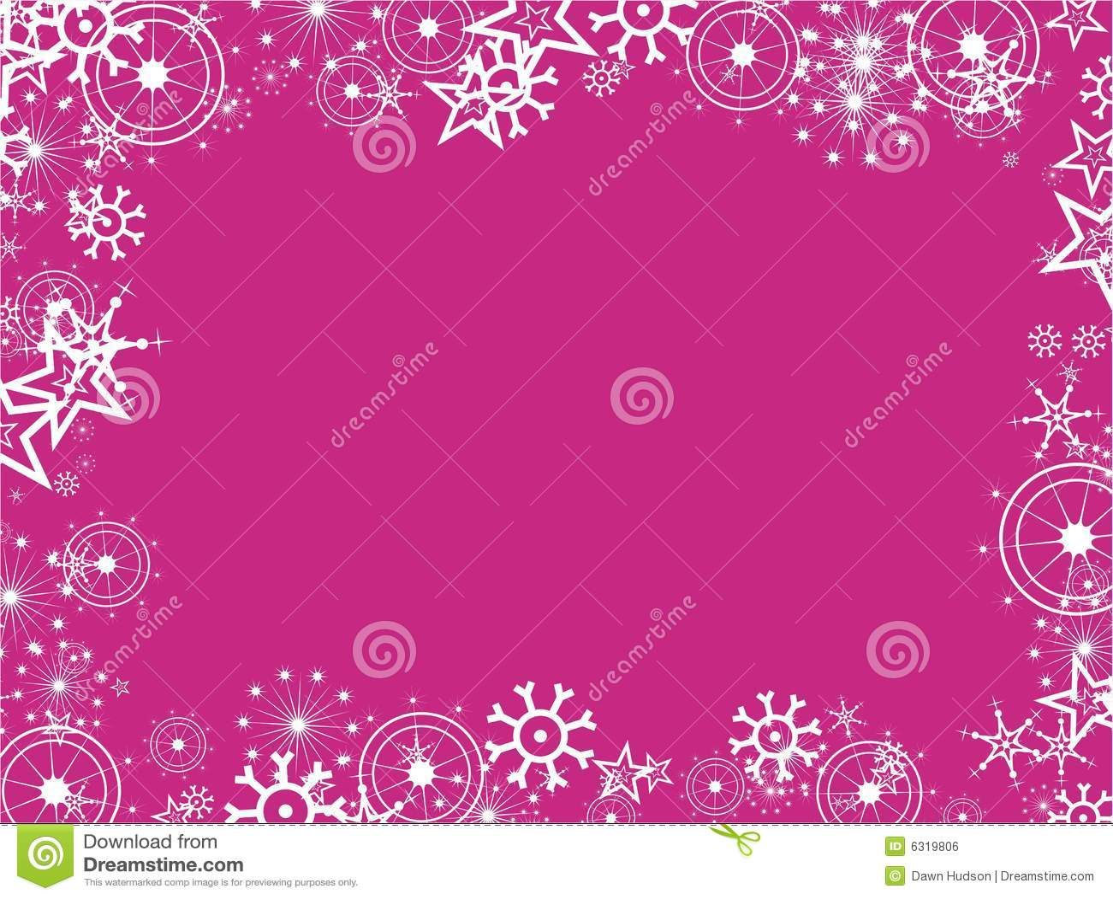 Snowflake Border Royalty Free Stock Image - Image: 6319806