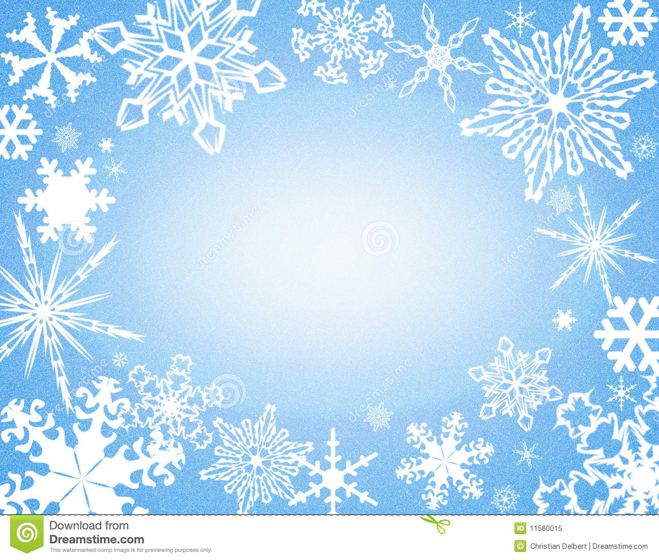 Snowflake Border On Blue Royalty Free Stock Photo - Image: 11560015