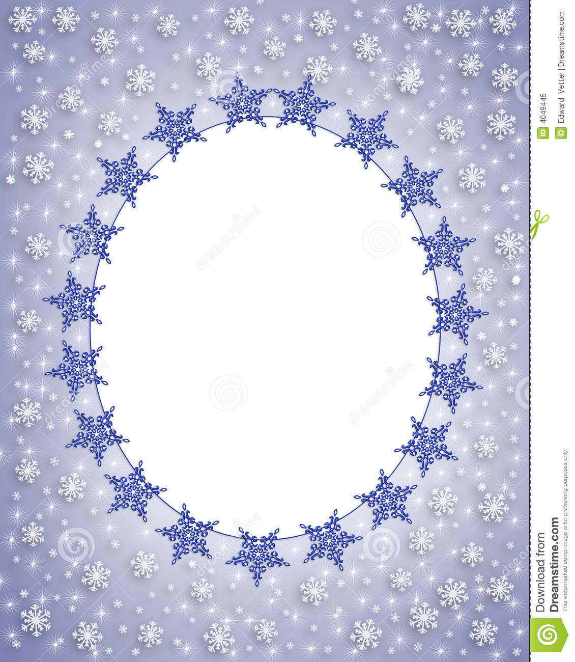 Snowflake Border Winter Frame Royalty Free Stock Photo - Image ...