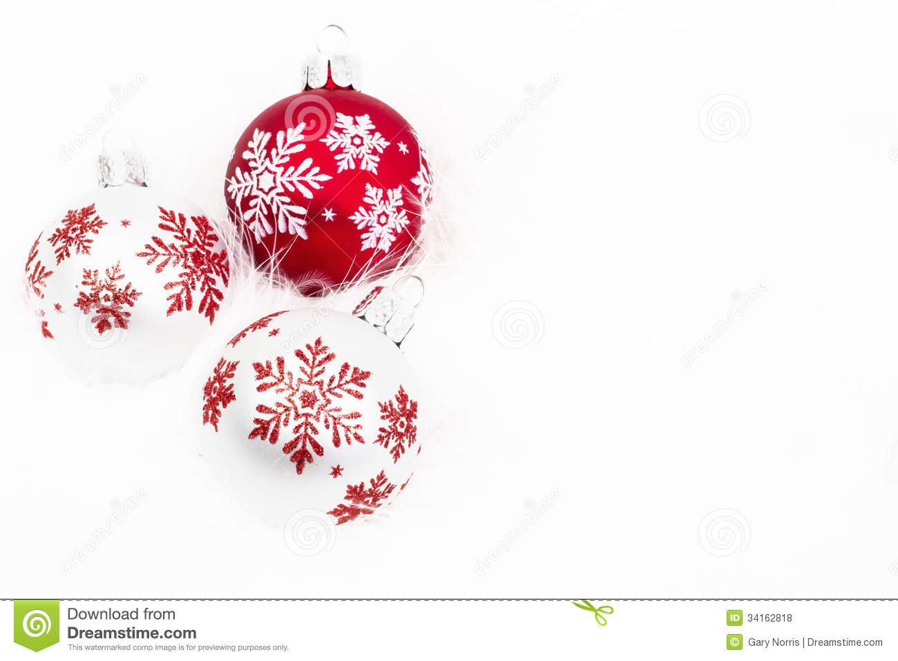 Snowflake Christmas Ornaments Stock Photo - Image of light, white ...