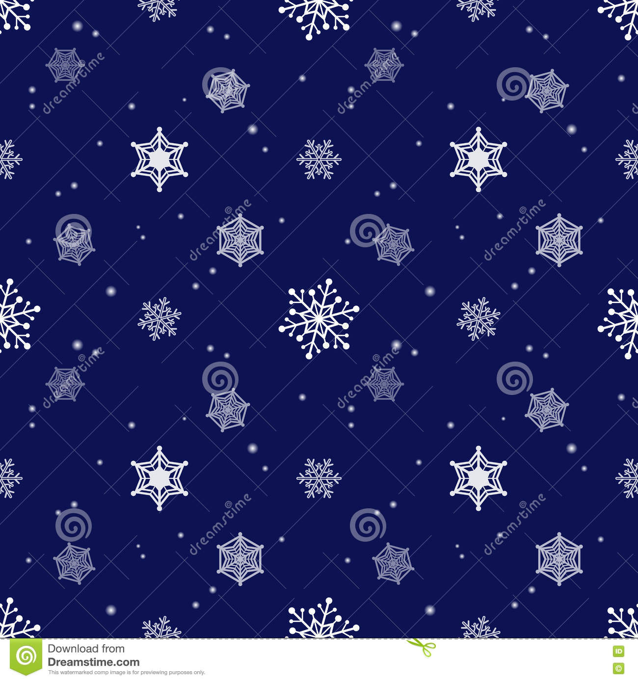 Snowflake Dark Blue Background Tint Layer Stock Vector