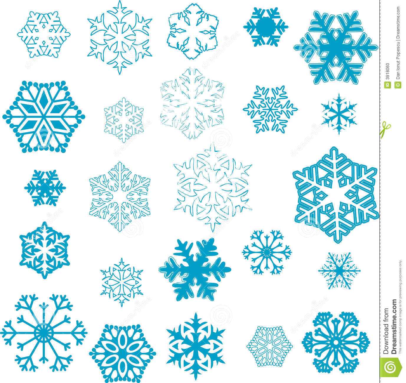 Various stylized designs of snowflakes for winter illustration.: www.dreamstime.com/stock-photo-snowflake-designs-image3918060