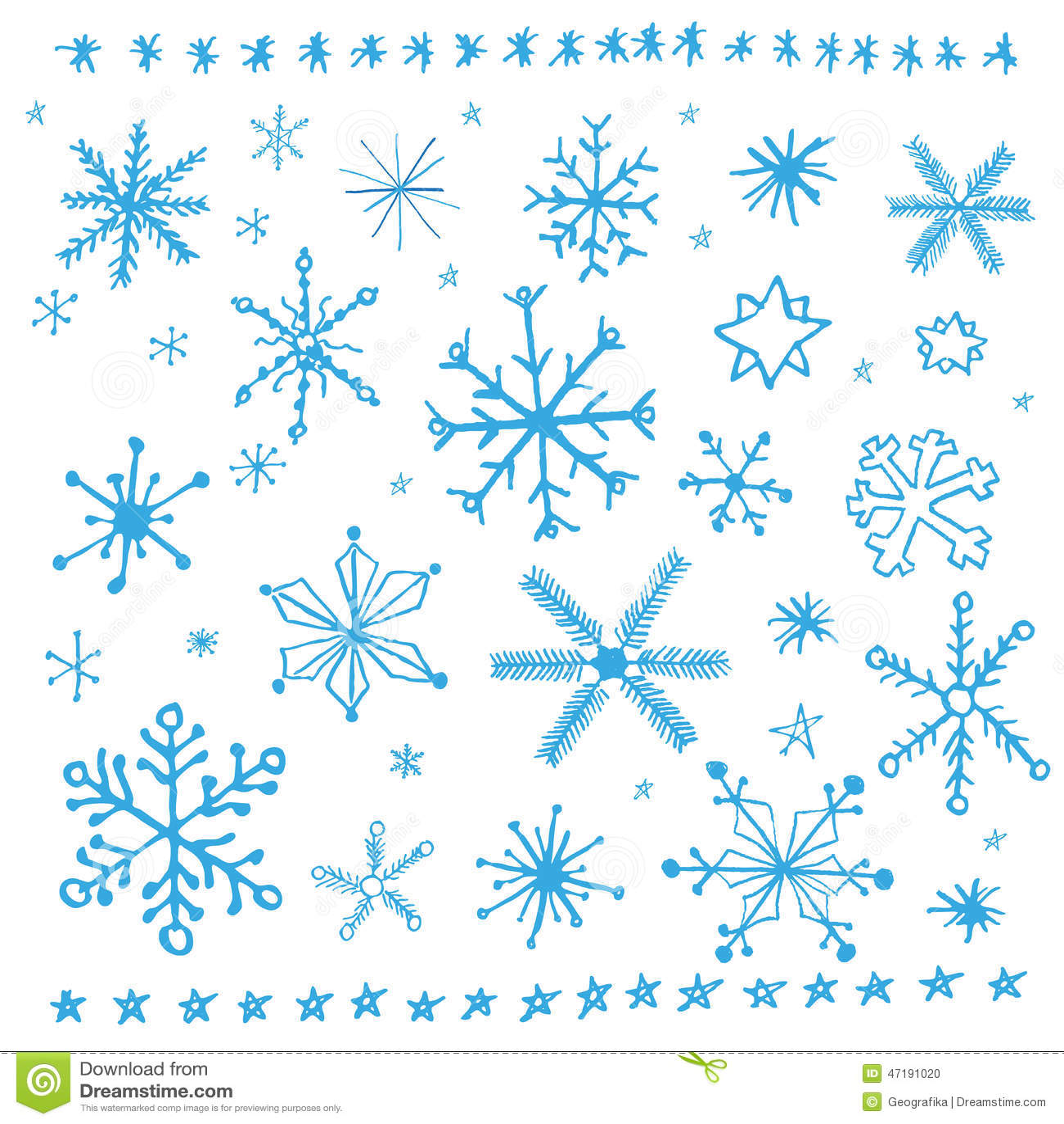 Snowflake doodle — Stock Vector © hchjjl #73198345