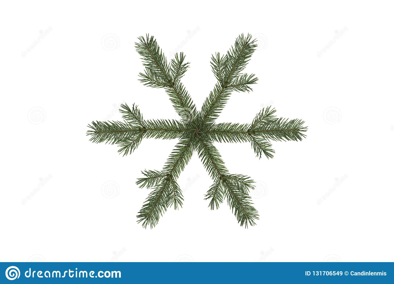 SNOWFLAKE WITH FIR BRANCHES 01
