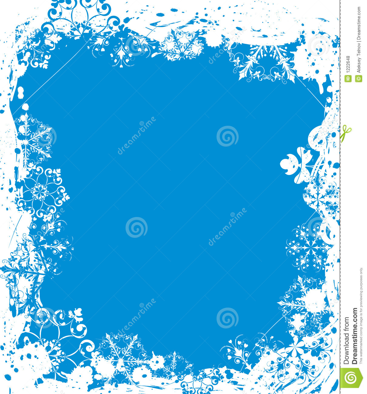 Snowflake Grunge Frame, Elements For Design, Vector Royalty Free Stock ...