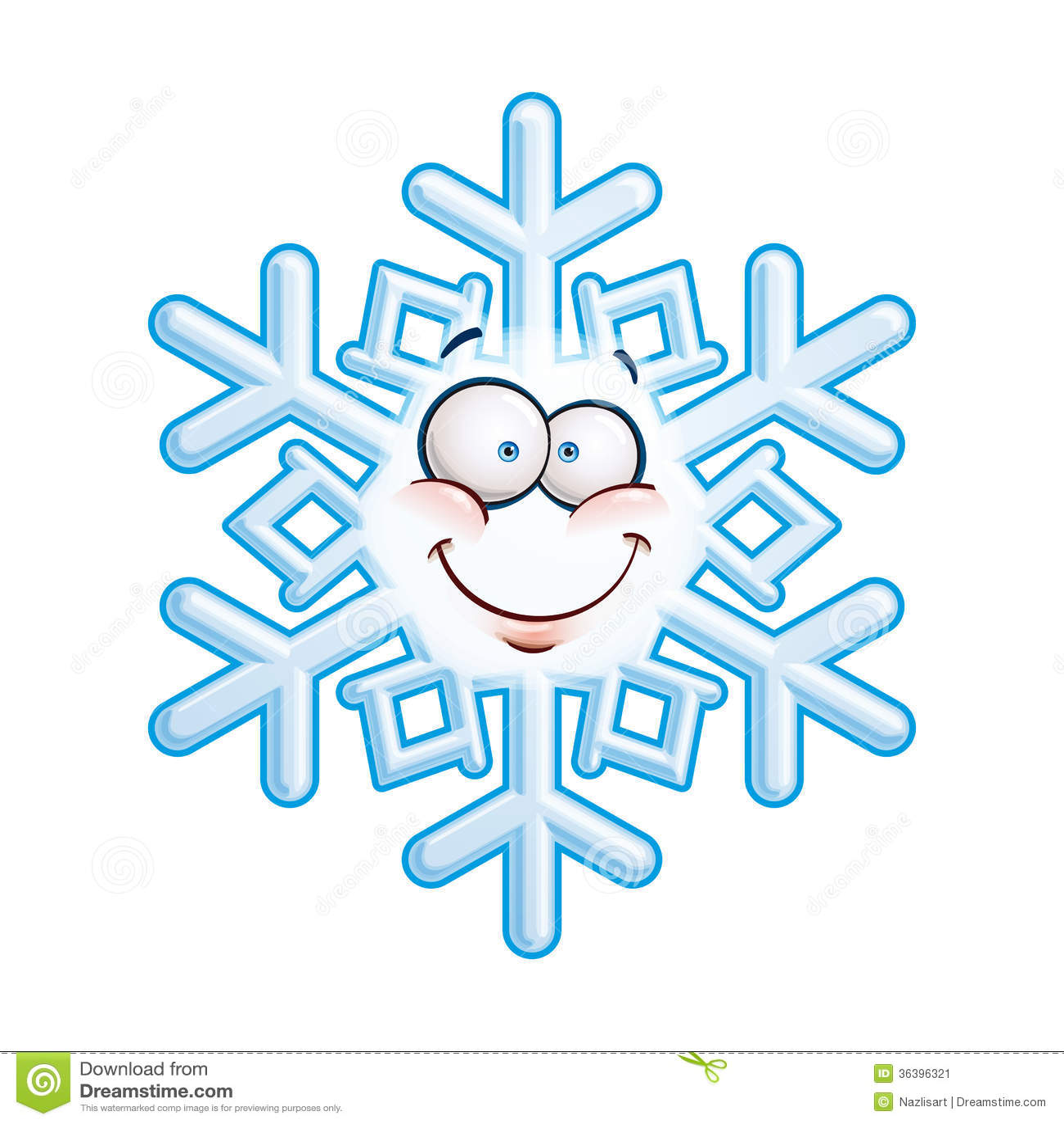 Snowflake Head - Smiley Stock Image - Image: 36396321