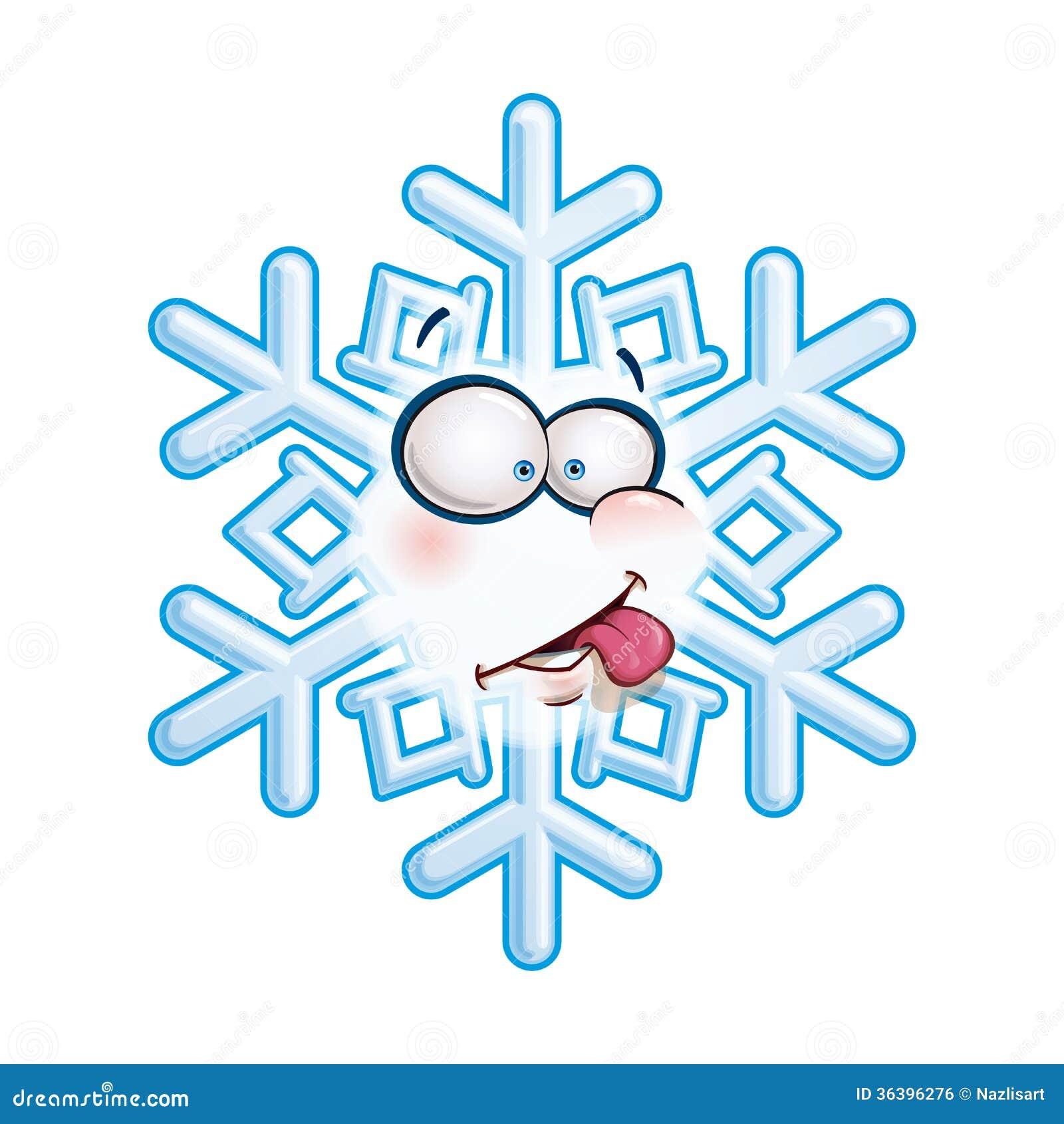 Снежинки смешные