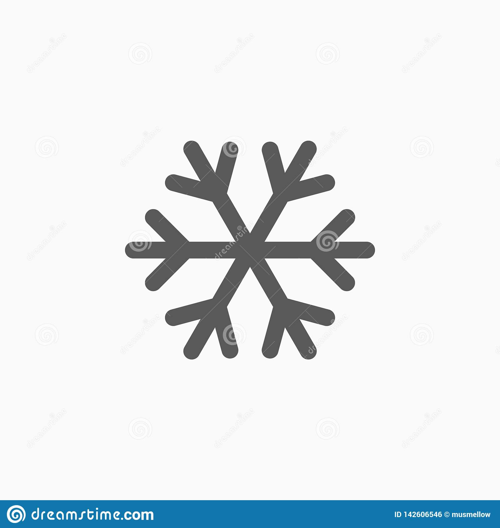 Snowflake icon, snow, weather, cold, cool