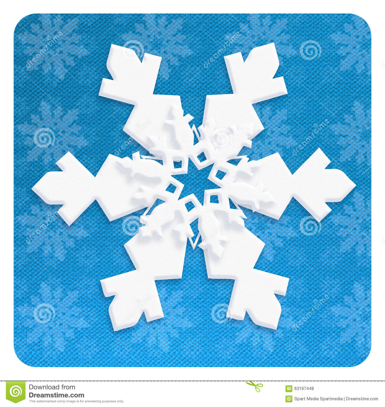 SNOWFLAKE wallpaper craft christmas blue decoration