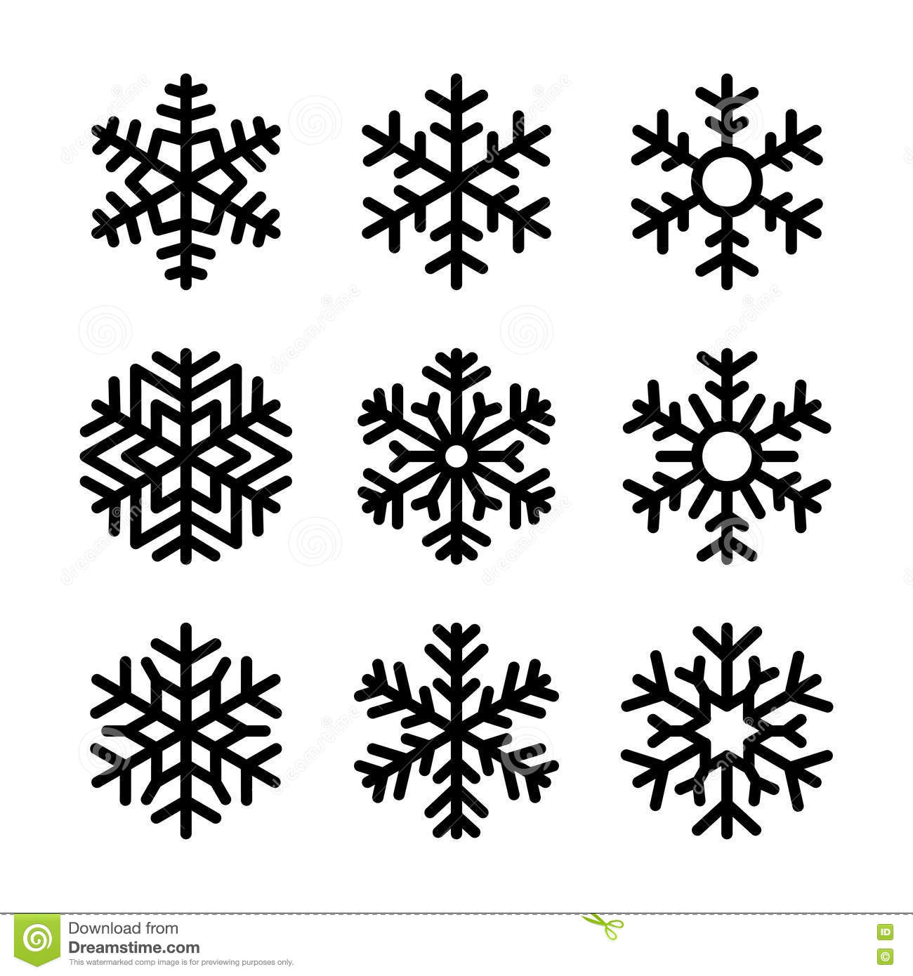 snow vector icons