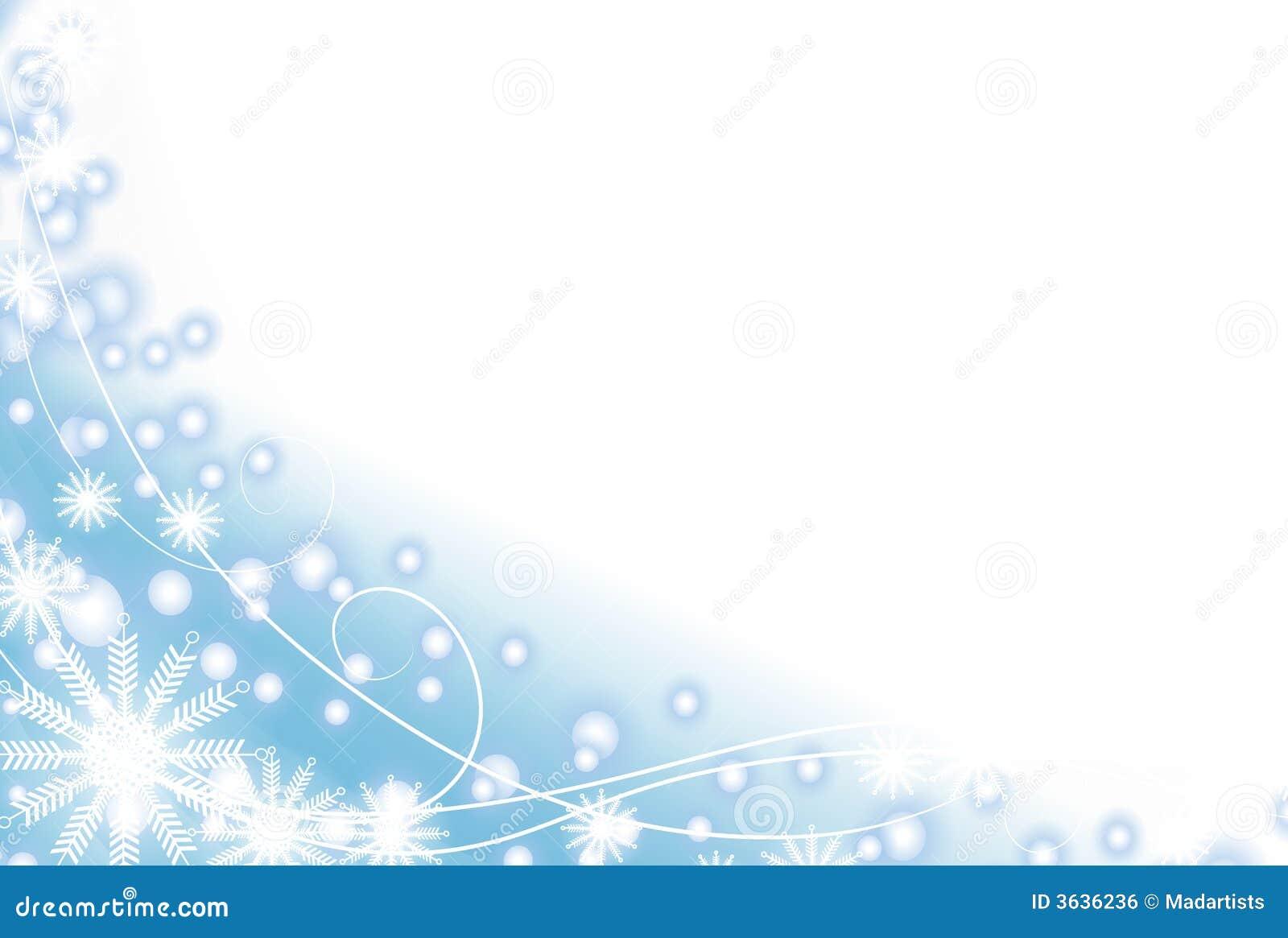 Snowflake and Light Blue Snow