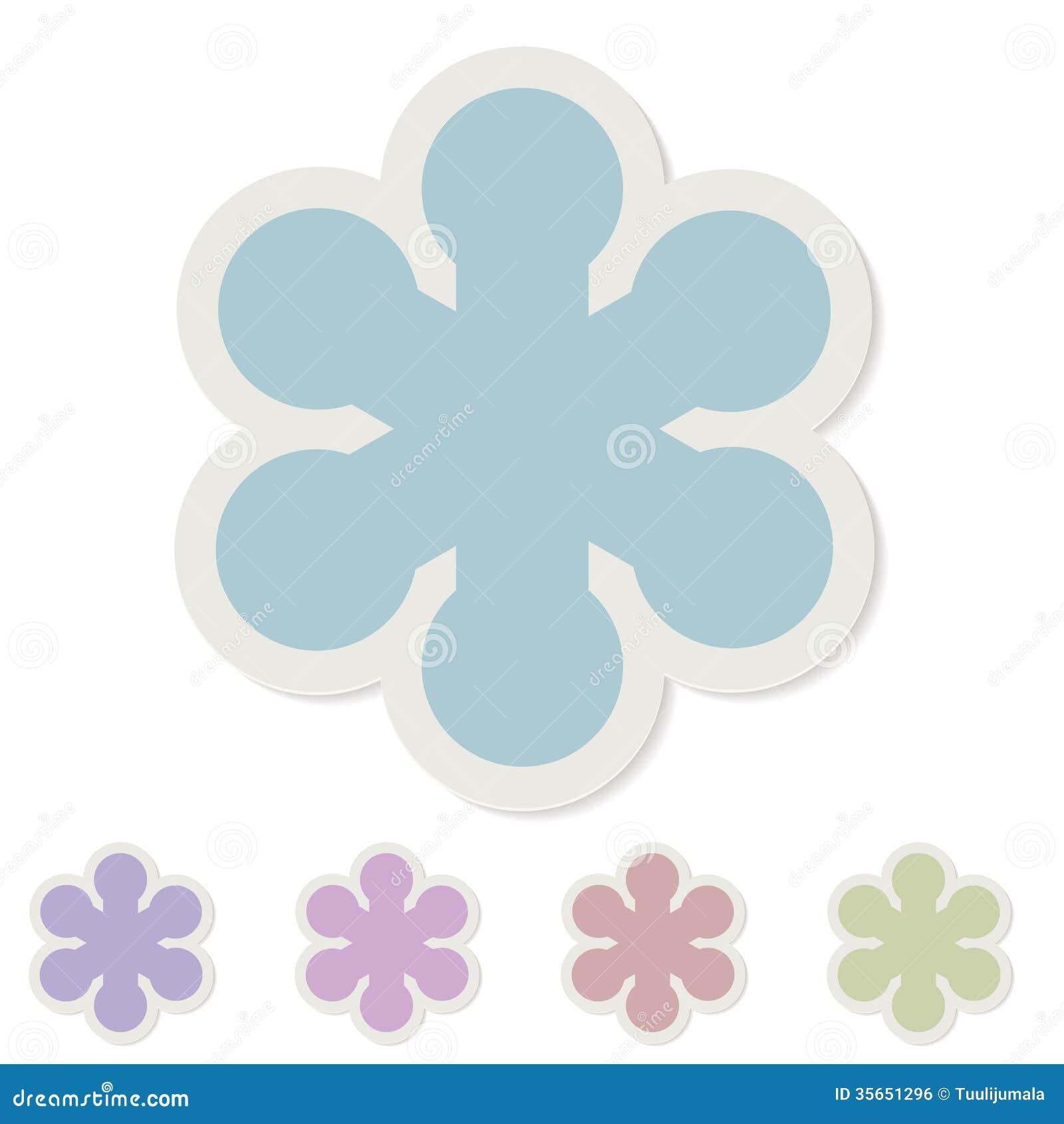 Snowflake Paper Sticker Royalty Free Stock Image - Image: 35651296