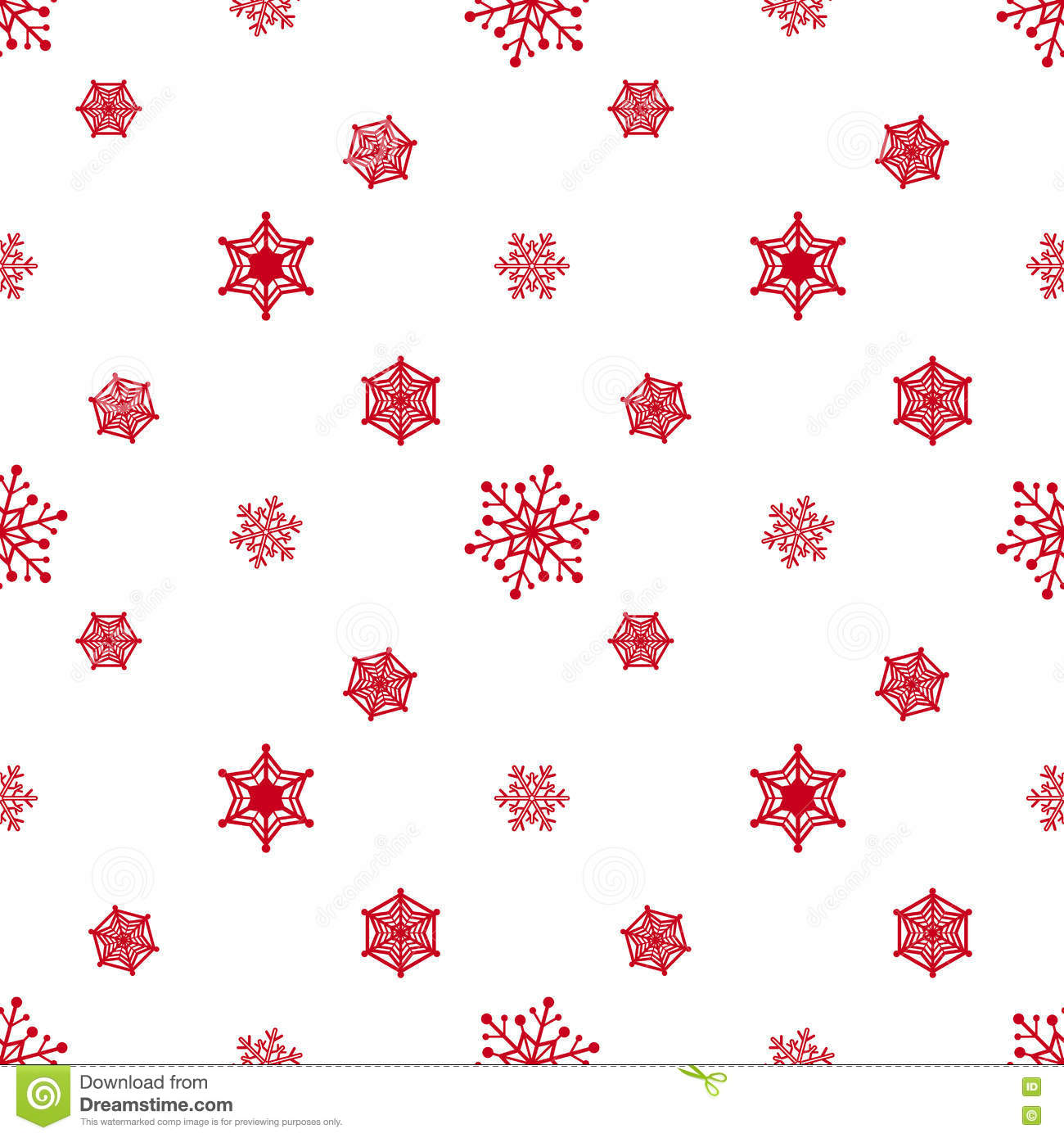 Red And White Patterned Wallpaper: Snowflake Red White Background Stock Vector